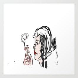 Cruella de Vil pop art Art Print