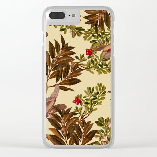 Autumn Leaves Clear iPhone Case
