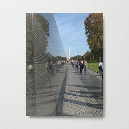 Vietnam Veterans' Memorial Metal Print