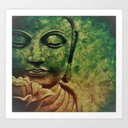 Buddha Head 2 Art Print