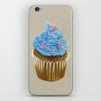 "cupcake iPhone & iPod Skins featuring ""Cupcake"" by Allana Vazquez"