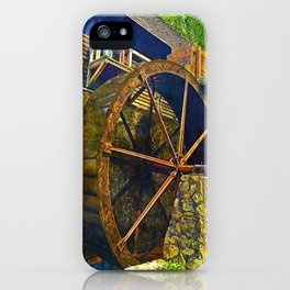 Gristmill Water Wheel iPhone Case