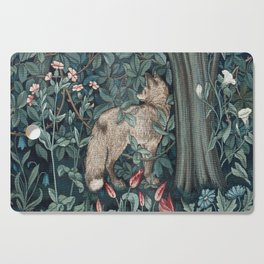 William Morris Forest Fox Tapestry Cutting Board