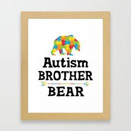 Cute Autism Awareness Brother Bear Framed Art Print