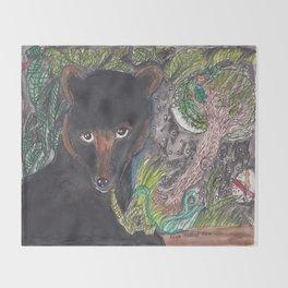 Florida Black Bear Throw Blanket