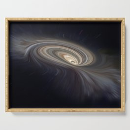 Feather Galaxy Serving Tray
