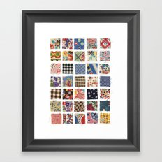 UPPERCASE feedsacks Framed Art Print