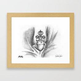 PHILLIP Frog Prince Print Framed Art Print