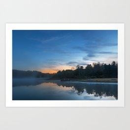 Pendleton Dawn Lake Art Print