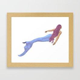 la sirène Framed Art Print