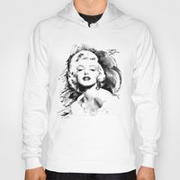 monroe Hoodies featuring Monroe by Ron Jones The Artist