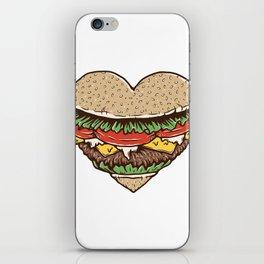 Hamburger Lover iPhone Skin