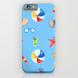 Time for the Beach, Summer Time Fun iPhone Case
