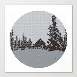 cabin love Canvas Print