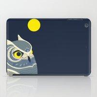anaconda iPad Cases featuring Night Owl by Polkip