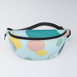 Contemporary Blue Geometric Abstract Design Fanny Pack