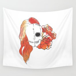 Split Image (Orange) Wall Tapestry