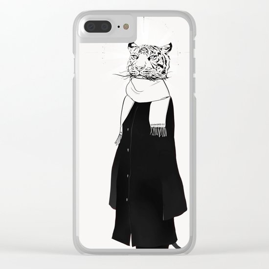 Tigress with scarf Clear iPhone Case