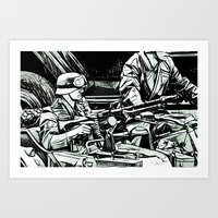 MGunner - WW2 Art Print