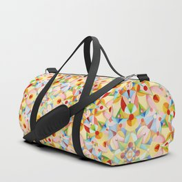 Pastel Geometric Duffle Bag