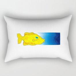 Yellow Fish (Babel Left) Rectangular Pillow