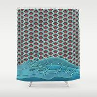 koi Shower Curtains featuring Koi by John Tibbott