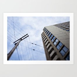 The first time I visited a city, I sunburned the roof of my mouth. Art Print