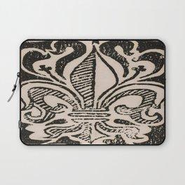 Distressed Fleur-de-Lis Laptop Sleeve