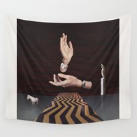 lynch Wall Tapestries featuring Meanwhile by Dano Marello