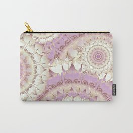 Delicate Mandala Pattern lilac Carry-All Pouch