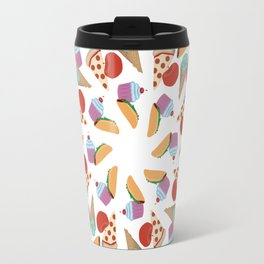 American Food Mandala Swirl Pattern Travel Mug