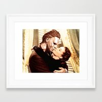 michael myers Framed Art Prints featuring Michael Myers as Clark Gable by Luigi Tarini