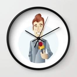 TV Reporter Wall Clock