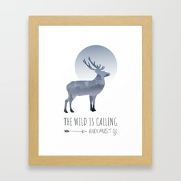 The Wild is Calling Framed Art Print