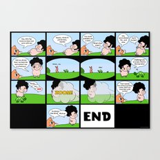 Afro Pig and the Footrace Canvas Print