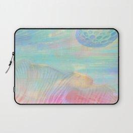 HOPSCOTCH SHRINE, a spaceship flying through a pastel art piece Laptop Sleeve