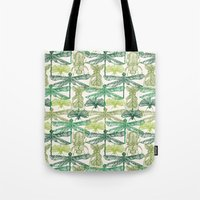 insects Tote Bags featuring Insects by nkpappas
