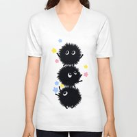spirited away V-neck T-shirts featuring Spirited Away  by TokiBuni