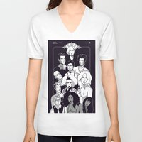 ahs V-neck T-shirts featuring AHS Hotel by Jaimie Hutton