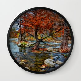 Guadalupe River Texas Wall Clock