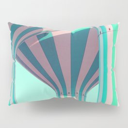 Teal Towers Pillow Sham
