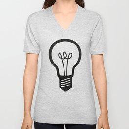 Simple Light Bulb Unisex V-Neck