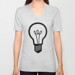 Simple Light Bulb Unisex V-Neck