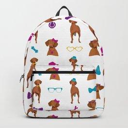 Hungarian Vizsla Pattern Rainbow Backpack
