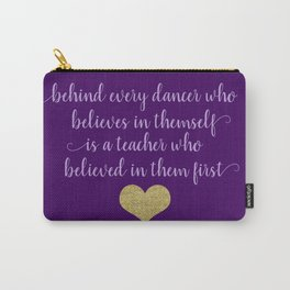 Dance Quotes - Purple Carry-All Pouch