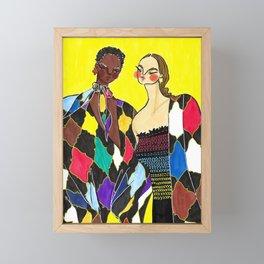 Alice + Olivia Girls – Original Fashion art, Fashion Illustration, Fashion wall art Framed Mini Art Print
