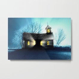 Abandoned Church within the Scituate Reservoir - Scituate, Rhode Island Landscape by Jeanpaul Ferro Metal Print