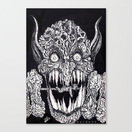 Full of hate Ink Illustration Canvas Print