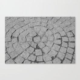 Old Stone Sidewalk Texture Canvas Print