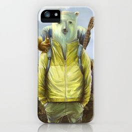 bear-tourist iPhone Case